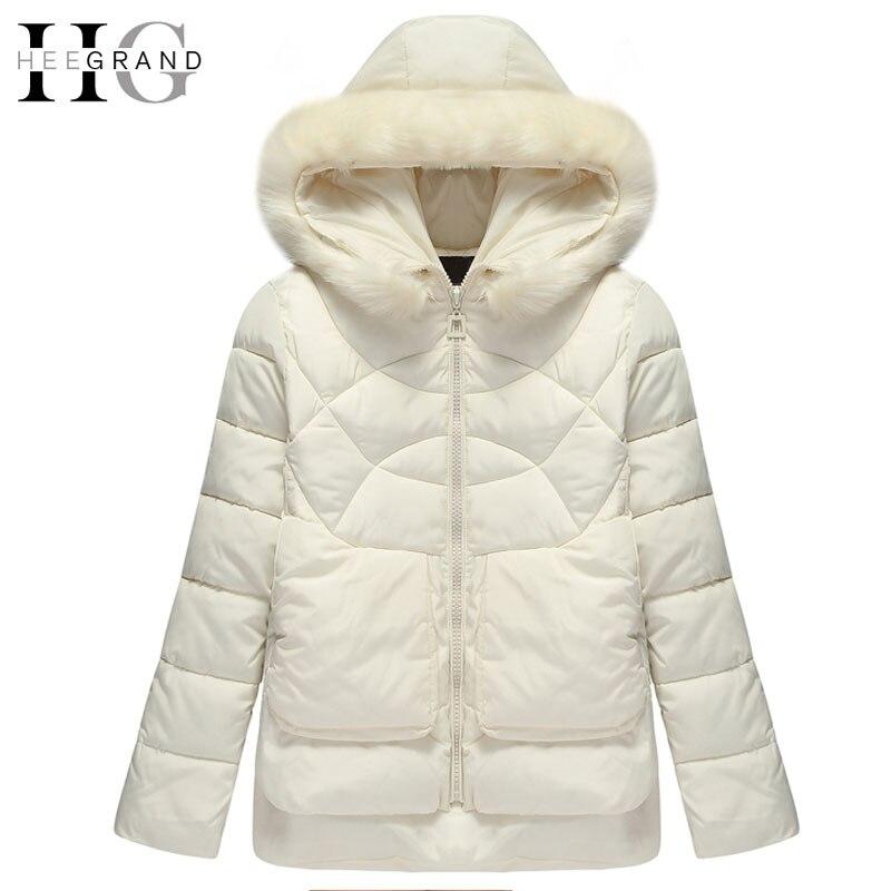 HEE GRAND 2016 Warm Cotton Fur Hooded Women Parkas Thick Down Mulheres Casaco De Inverno Short Oversized Winter Coats  WWM1441Îäåæäà è àêñåññóàðû<br><br>
