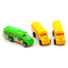 Child Toy Car Model American School Bus Students Shuttle Back To School Bus Plastic Alloy Car 1PCS(China)