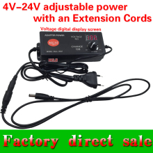 Free shipping DC4-24V60W adjustable power with an extension cords DC13.5V4A 18V 20V 21V 22V 2.5A  laptop power supply fo rmotor