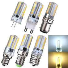 3W LED Light Bulb Dimmable G4 G9 E12 E14 E17 BA15D 80LED 3014 SMD Corn Light Spotlight Bulb Silicone Crystal Lighting AC110/220V(China)