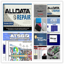 all data car repair software alldata 10.53 and mitchell on demand+ 2017 elsawin 5.2+moto heavy truck 27in1 external hdd 1tb(China)