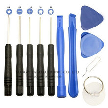 Mobile phone disassemble tool 11 in 1 screwdriver combination tool 1.5/2.0/0.8 screwdriver/Hot sale Free shipping wholesale(China)