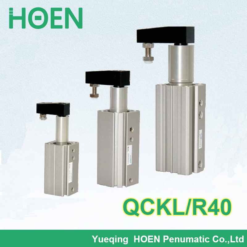 QCKL40-10 QCKR40-10 QCKL40-20 QCKR40-20 QCKL40-30 Airtac type Double Acting Rotary Clamp Cylinder QCK series pneumatic cylinder<br>