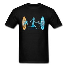 Rick And Morty T Shirt Short Sleeve Custom Clothes New Atmosphere 3XL Cotton Drunken Portal Men's Shirts(China)