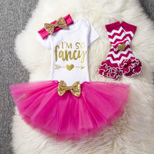 Baby Girl 1st Birthday Outfit Baby Clothing Sets Brand Baby Clothes Sets Toddler Girl Baptism Tutu Clothes One Year Bebes Roupas