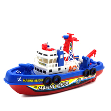 New Flashing and musical Not RC Boat model toys Water jet boat clippers Classic toys brinquedos Summer water toy(China)
