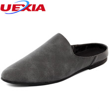 Buy UEXIA Suede Leather Men's Shoes Beach Slippers Fashion Comfortable Breathable Flip Flops Soft Sole Breathable Summer Men Shoes for $19.47 in AliExpress store