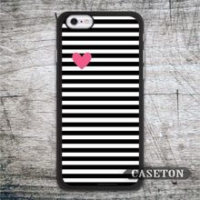 Heart With Black Stripes font b Case b font For font b iPhone b font 7