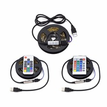 IP20/IP65 Waterproof USB Led RGB Strip Light Lamp 5050 Flexible 0.5M-5M Kit+17 Key RF Remote Controller/24 Key IR /Mini 3 Key