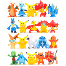 Random 4-5cm Pikachu Minifigure PVC Action Figures Toys Pocket Monster Figure Model Toy Doll Children Gifts - Happy & Fun Kids store