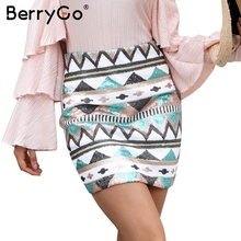 Buy BerryGo Aztec print sequin mini skirts womens bottom High waist streetwear zipper short skirt 2017 New autumn pencil skirt for $15.99 in AliExpress store
