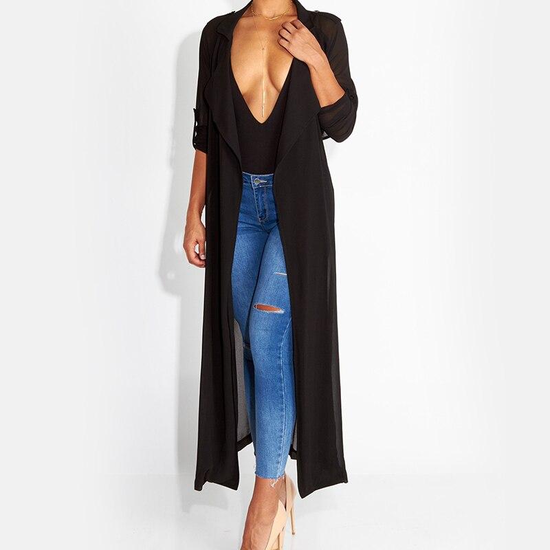 Women Summer Elegant Kimono Long Sleeve Maxi Chiffon Cardigan Cover Blouse Coat