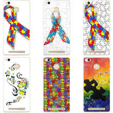 158G Puzzle Autism Awareness Style Transparent Cover Case for Xiaomi Redmi 3 3S 3Pro 4 4pro Note 3 4 Note 3 4x 4pro Max Mi5 Mi5s