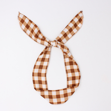 News Bunny Rabbit Ears Cotton Wrap Bow Bowknot Square Pattern Hair Band Headband Wire Bendy Headdress Accessories(China)