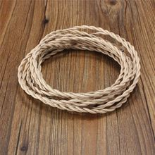 Lowest Price 5M Vintage Retro Multicolor 0.75mm 2 Core Twist Braided Fabric Cloth Cable Wire Flexibal Electric Lighting Cord(China)