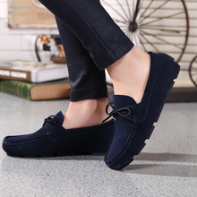 EOFK Moccasin homme Loafers Men Slip On shoes Casual Flat Shoes Brand Suede Shoe Slipony Flats Moccasins men Driving Shoes