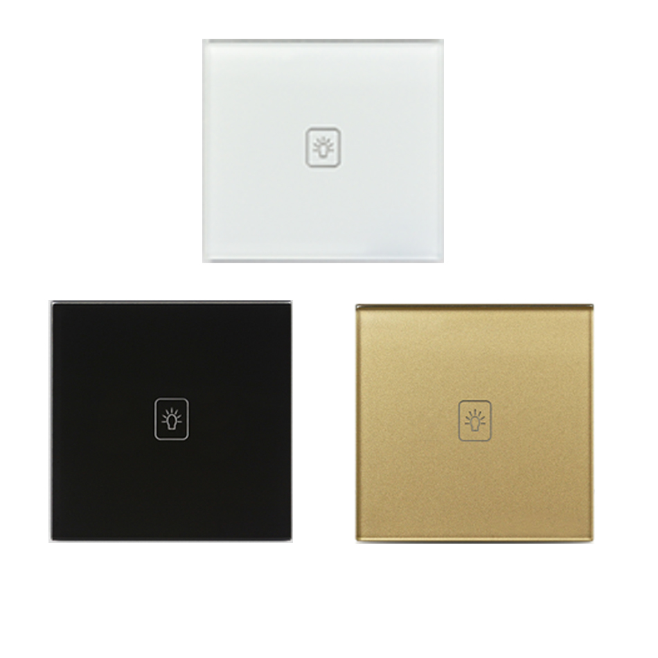 EU Standard Dimmer Tuuch SwItches White BIack GoId  incIude remote CrystaI GIass PaneI Iight Screen WaII smart controI Iamp home<br>
