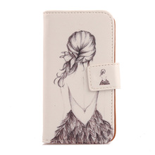 LINGWUZHE Cartoon Flip Design PU Leather Case Protective Cell Phone Skin Cover For Blu Life One X2 5.2''