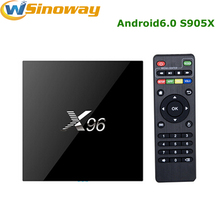 Hot IPTV Smart TV box Androd6.0 X96 s905x Quad Core 1G/8G or 2G/16G tv box android 6.0 KODI 4K H.265 Media Player X96 tv Box