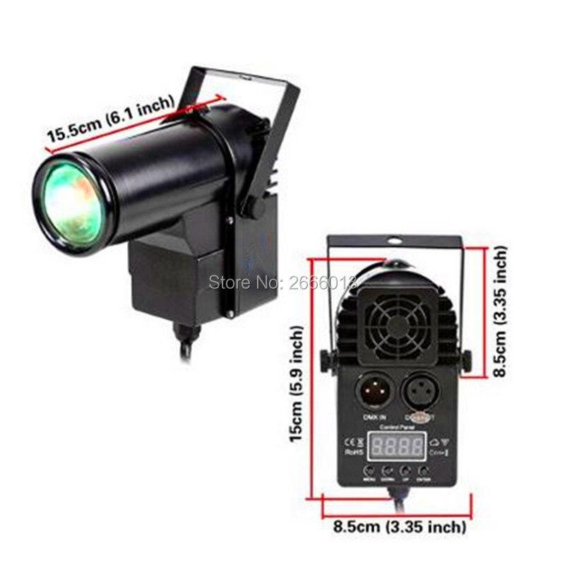 2pcs/lot Professionnal 10W RGBW LED Pinspot DMX512 Narrow-Beam Pinspot Stage Lighting dj stage pin spot light ktv bar party lamp<br>