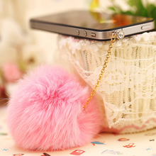 Dachshund Promotion Earphone Jack Plug 2016 New Rabbit Fur Dust Plug Fashion Mobile Phone 3.5mm Earphones Hole Cell Accessories(China)