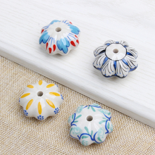 Modernized Ceramic Hand Painted Art Wardrobe Door Handle Single Hole Cabinet Pulls Knobs Colorful Furniture Hardware Accessories(China)