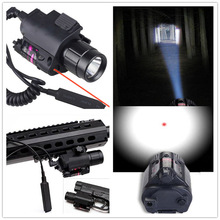 2in1 Tactical CREE LED Flashlight LIGHT Red Laser Sight + Weapon Light for Shotgun for Glock 17 19 22 20 23 31 37