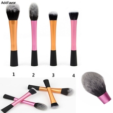 AddFavor 1Pcs Aluminum Handle Nylon Make Up Powder Foundation Brushes Cosmetic Blush Brush Cosmetic Beauty Tool Flat Top Makeup