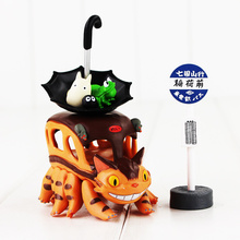 New Anime Totoro Cat Bus Jewellery Storage My Neighbor Totoro Pvc Action Figure Toys Collection Model Gifts(China)