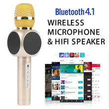 Newest E103 Wireless Bluetooth Microphone Professional K Song Handheld Microphone Outdoor KTV Karaoke Speaker For PC iOS Android