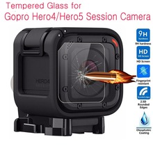 Tempered Glass Screen Protector For Gopro Hero4 Hero 4 5 Session Mini Video Action Camera Lens 360 Protection Film Accessories(China)