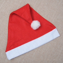 1pc Red Christmas Hats Caps For Adult Children Kids New Years Birthday Festive Gifts Home Party Decoration Santa Claus Hat