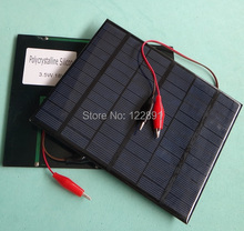 New 3.5W 18V Mini Solar Cell Polycrystalline Solar Panel+Crocodile Clip Diy Solar System For 12V Battery Charger FreeShipping