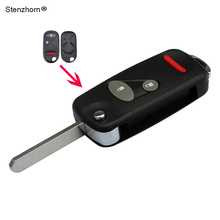 Stenzhorn Modified Key Shell Case Fob For Honda Accord Element Civic CR-V 2+1 Buttons Replacement Key Case Car Covers