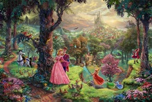 Thomas Kinkade painting fairy tale figure pictures giclee prints high quality wall art canvas wholesale and dropship is welcomed