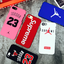 Pink Supreme chicago bulls Jordan 23 sports Matte hard plastic protection case for iphone 7 7plus 5 5s se 6 6s plus Coque cover