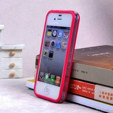 2017 Best Quality Middle Transparent Bumper For Iphone 4g 4S Tpu Silicone +plastic Frame Of Case ,cell Phone Cover For Iphone 4(China)