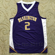 #2 Isaiah Thomas WASHINGTON College Basketball Jersey Embroidery Stitched Custom Any Name and Number isiah thomas(China)