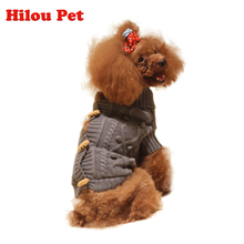 Free shopping hot sale gery  Winter Pet Dog sweater  Thickening Warm  Dog Clothes