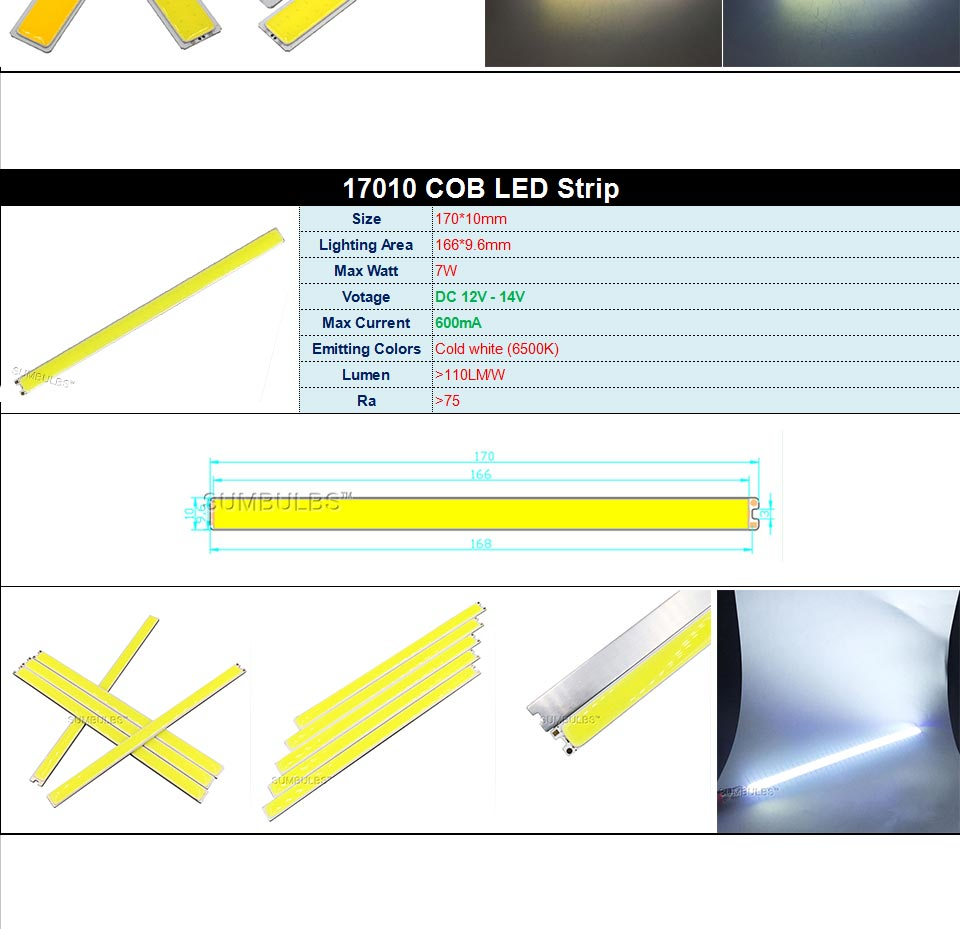 DC12V LED COB Bulb Light Emitting Diodes 2W-200W Round COB Strip White Red Blue Color 12V LED Lamp Chip for Auto Car Bulbs DIY (10)