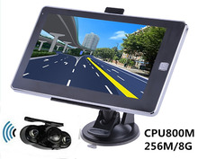 Reverse Parking System,7 inch Vehicle GPS Navigation 256M/8GB CPU800Mhz+Wireless Rear View camera+free latest maps