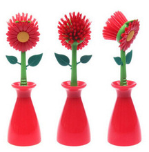 GWT New Creative Flower Brush Cleaning Brush Bathroom Kitchen Supplies Manufacturers Direct Gadget