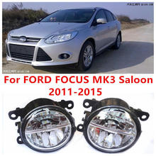 For FORD FOCUS MK3 Saloon 2011-2015 Fog Lamps LED Car Styling 10W Yellow White 2016 new lights