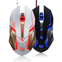 Rajfoo Scorpion Professional Optical Esport Gaming Mouse Macro Programmable Mice 6D Buttons 3200DPI LED USB Wired for Pro Gamers