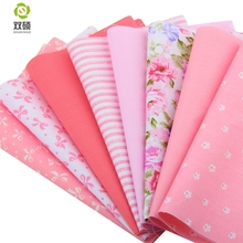 2015 Print Pink Flower 5 Colors Cotton Fabric Strips Patchwork Quilting Tilda Crafts For DIY Toys Cloth Dress 20X50 CM T1-8-8
