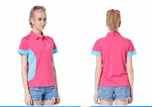 2016 womens tennis polo shirt for rugby baseball golf sports campaign female 100% polyester mesh fabric polos uniform TS5008