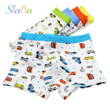 5-Pack Cartoon Car Kids Boys Underwear Cool Modal Kids Boxer Children's Panties Soft Underpants Briefs Baby Boys Underware(China)