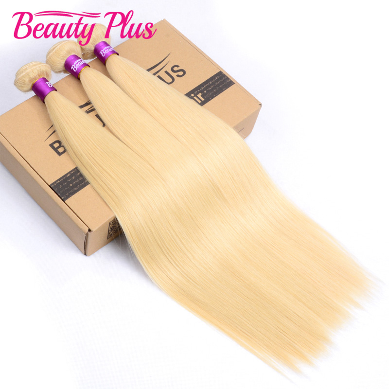 Bleach Blonde Straight Hair Bundles 3Pcs/Lot Malaysian Straight Hair 613 Blonde Virgin Hair 100% Human Hair Extensions 12-26<br><br>Aliexpress