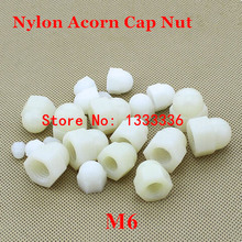 100pcs M6 Nylon Hex Acorn Nuts DIN1587 Plastic Hexagon Domed Cap Nut