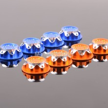 4pcs CNC Dust Proof Wheel Hub Cover Aluminium 17mm For 1:8 RC Car Truck TEAM C HSP NANDA